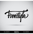 Freestyle hand lettering - handmade calligraphy vector