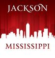 Jackson mississippi city skyline silhouette vector