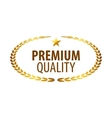 Luxury golden premium quality best choice labels vector