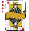 Queen card symbols vector