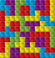 Tetris board background vector