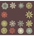 Cute retro snowflakes eps 8 vector
