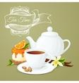 Tea party poster vector