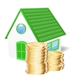House with coins vector