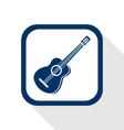 Guitar flat icon vector