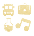 School paper and education icons vector