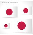 Japan flag template vector