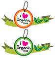 Organic food label set vector