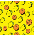 Citrus pattern vector