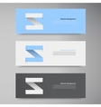 Banner design template label arrow vector