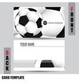 Modern soccer business-card set vector