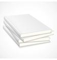 Stack of empty books with white cover vector