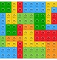 Plastic construction blocks seamless background vector