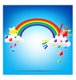 Rainbow and colorful star vector
