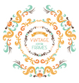 Set of vintage round frames vector