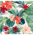 Bright colorful tropical seamless background with vector
