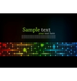 Abstract colorful background with square vector
