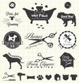 Pet grooming labels vector