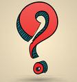 Abstract question mark sketch vector