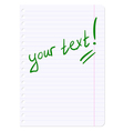 Blank sheets of paper sheet in line vector