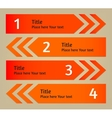 Infographic arrows background vector