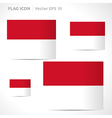 Monaco flag template vector