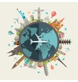 Flat design travel composition vector