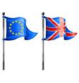 Euro britain triangle flag vector