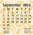 September 2013 calendar albino snake skin vector