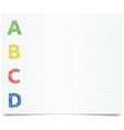 Abcd - pen style vector