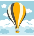 Hot air balloons on the sky vector