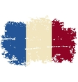 French grunge flag vector
