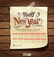 Wooden background calendar 2014 vintage vector
