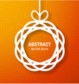 Abstract circle paper applique on orange backgroun vector