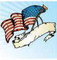American flag banner vector