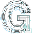 Font letter g vector