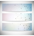 Set of horizontal banners abstract blue background vector