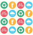 Eco green seamless background pattern vector