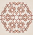 Rose pink floral pattern vector