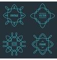 Set of outline emblems and badges vector