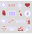 16 simple blood stickers set eps10 vector