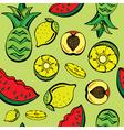 Tropical fruits print vector
