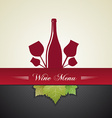 Wine menu cover vector
