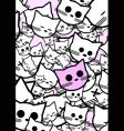 Abstract background with funny cats vector