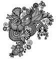 Black ornamental floral adornment vector