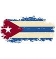 Cuban grunge flag vector