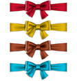 Satin color ribbons gift bows vector