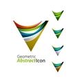 Set of abstract geometric company logo triangle vector