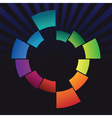 Abstract coloured ring vector