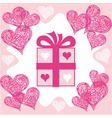 Present valentines day vector